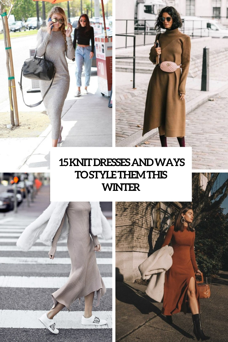 knit dresses and ways to style them this winter cover