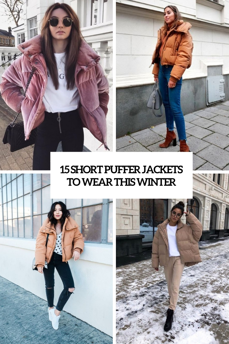 short puffer jackets to wear this winter cover