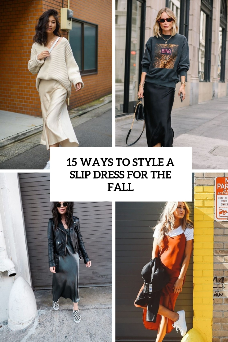 ways to style a slip dress for the fall cover