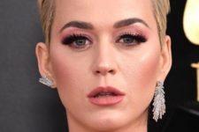 03 mismatched rhinestone earrings of different shapes but in the same style by Katy Perry