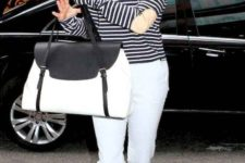 04 a basic striped top is a chic idea to pair with any pants you like and it will make you look younger