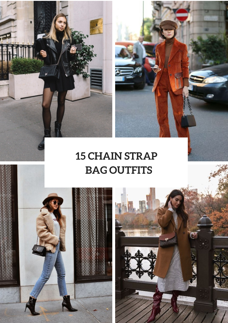 Fall Outfits With Chain Strap Bags