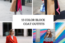 15 Looks With Color Block Coats For Ladies