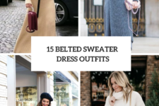 15 Outfits With Belted Sweater Dresses