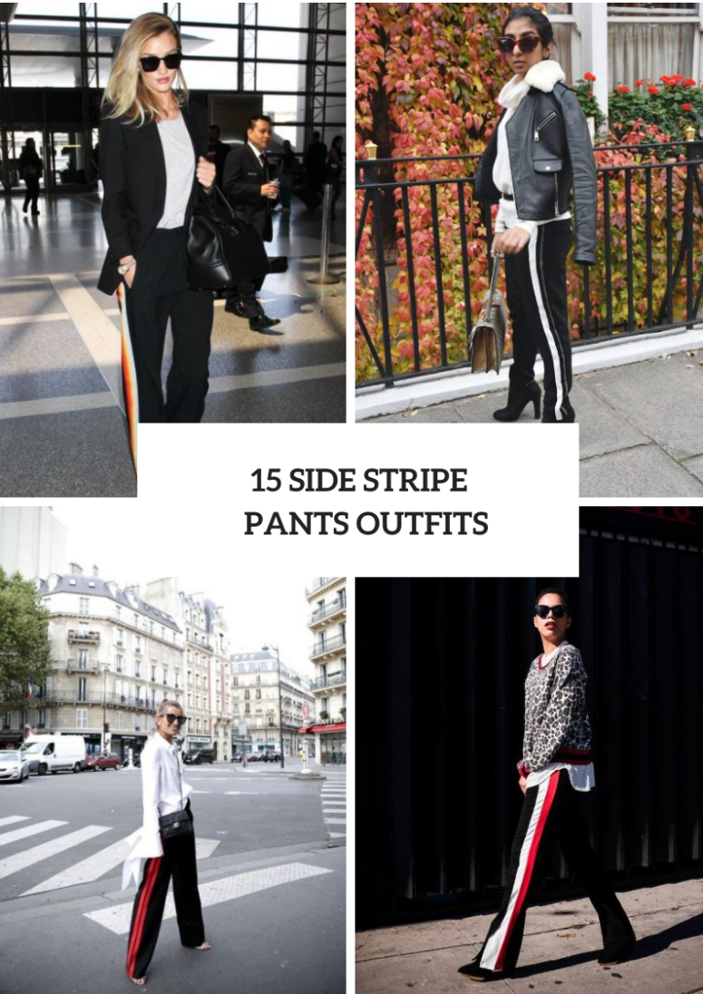 Outfits With Side Stripe Trousers For Ladies