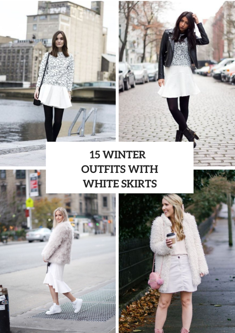 15 Winter Outfits With White Skirts