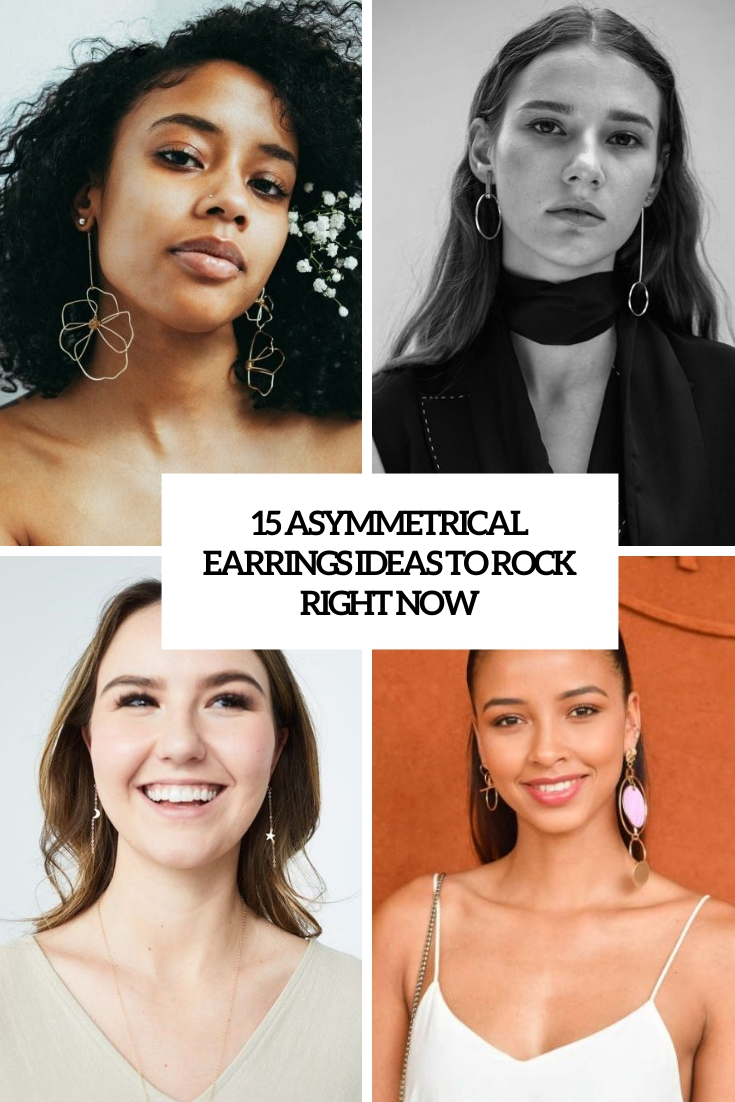 asymmetrical earrings ideas to rock right now cover