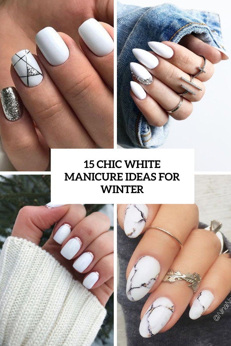 15 Chic White Manicure Ideas For Winter