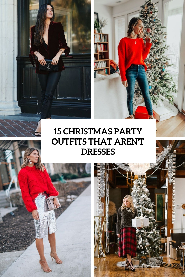 15 Christmas Party Outfits That Aren't Dresses