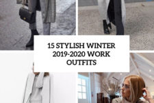 15 stylish winter 2019-2020 work outfits cover
