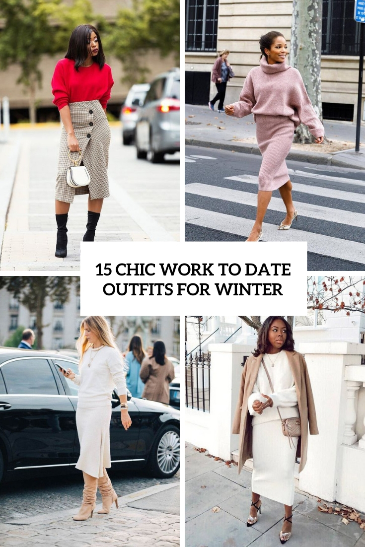trendy work to date outfits for winter cover