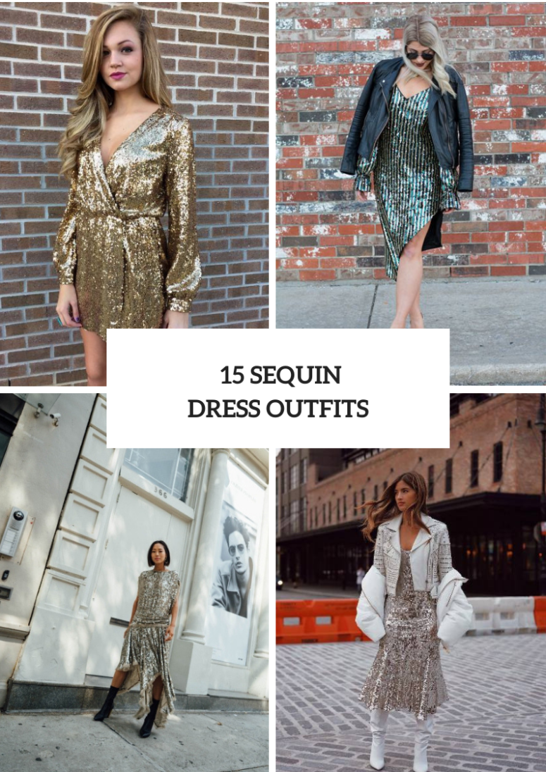 15 Fabulous Looks With Sequin Dresses