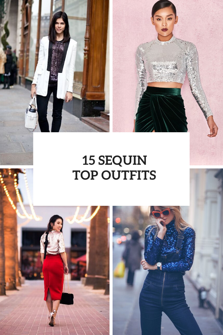 New Year's Eve Party Outfits With Sequin Tops