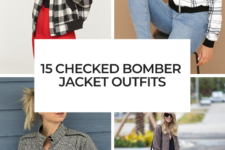 15 Outfits With Checked Bomber Jackets For Ladies