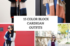 15 Outfits With Color Block Cardigans For Ladies