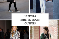 15 Outfits With Zebra Printed Scarves