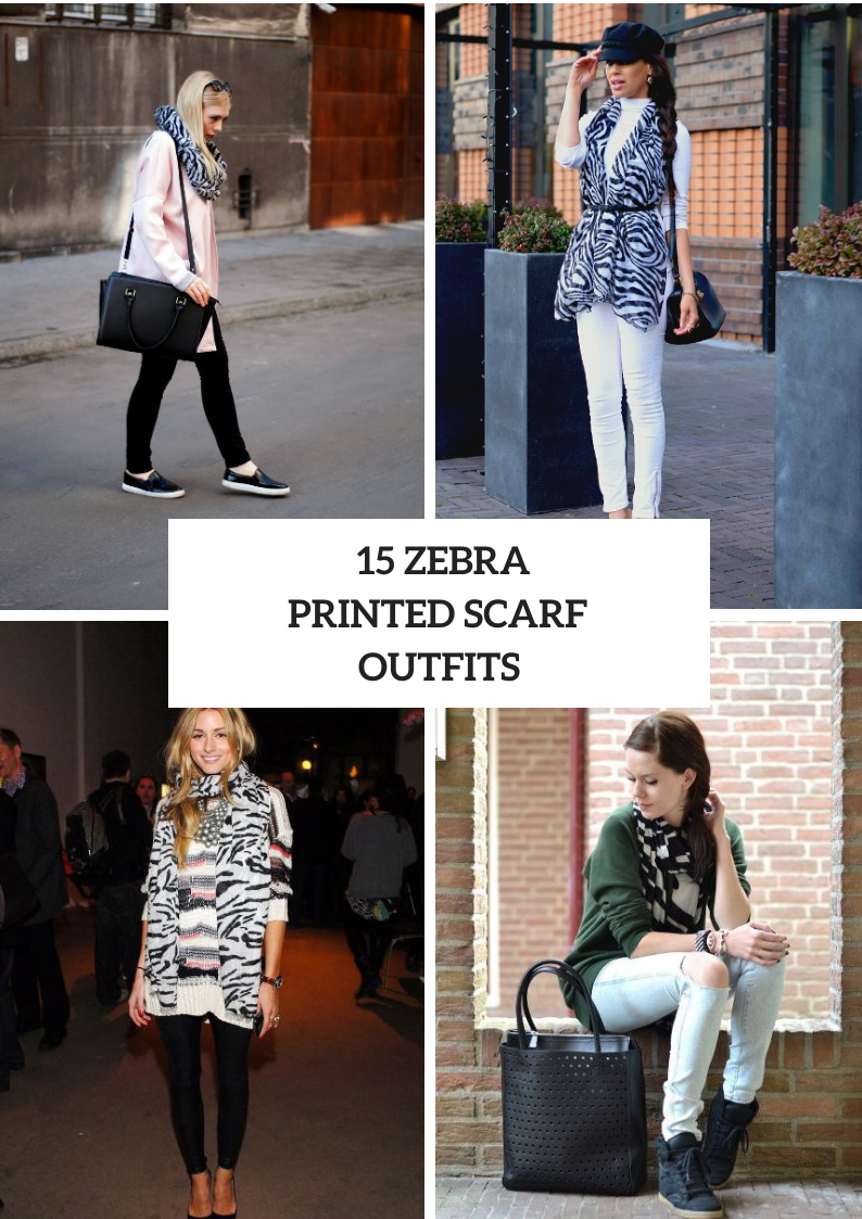 Outfits With Zebra Printed Scarves