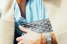 dainty cord and chain bracelets with pretty charms and a silver finish watch for a modern and chic look