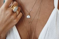 a minimalist layered necklaces