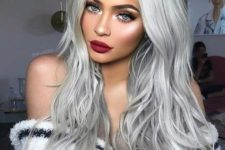 02 long silver blonde waves are what you need to look amazing, chic and stylish this year