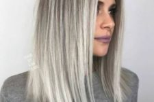 03 silver blonde balayage on darker hair and medium length is a hot idea to rock this year