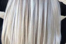 04 silver and ashy blonde balayage on darker hair is a chic idea to play with trendy colors