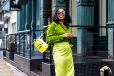 a neon shoes look for spring