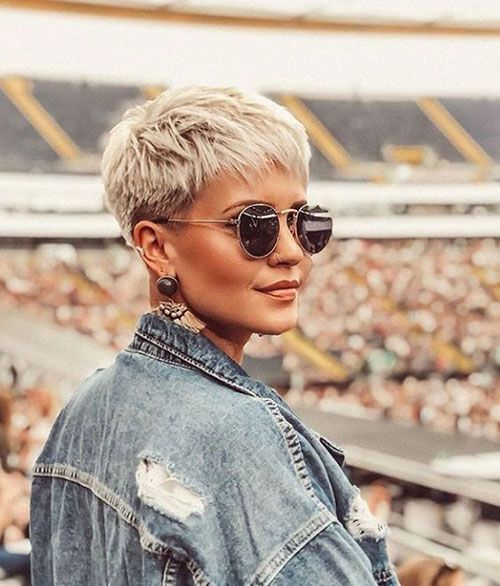 a blonde layered short pixie is a timeless idea for a girl who loves gamine cuts