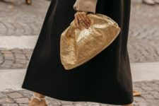 12 add a touch of bling to your look with a gold soft clutch like this one – it will catch ll the eyes