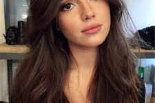 13 dark chocolate brown hair wuth messy waves will give you a super sexy look