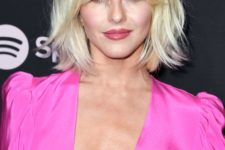 14 short blonde hair with shaggy bangs – you don't need to change your length to look chic