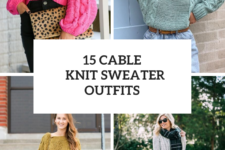 15 Amazing Outfits With Cable Knit Sweaters