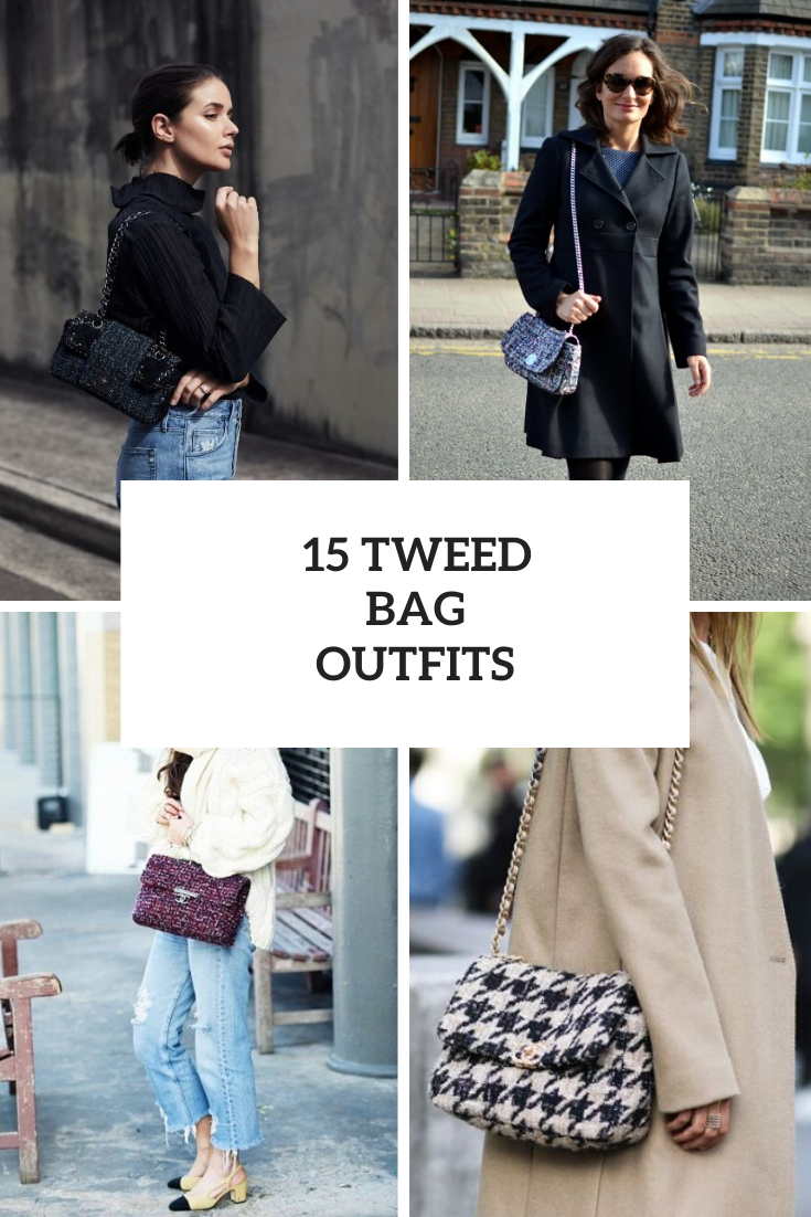 15 Amazing Outfits With Tweed Bags