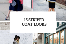 15 Outfits With Striped Coats For This Season