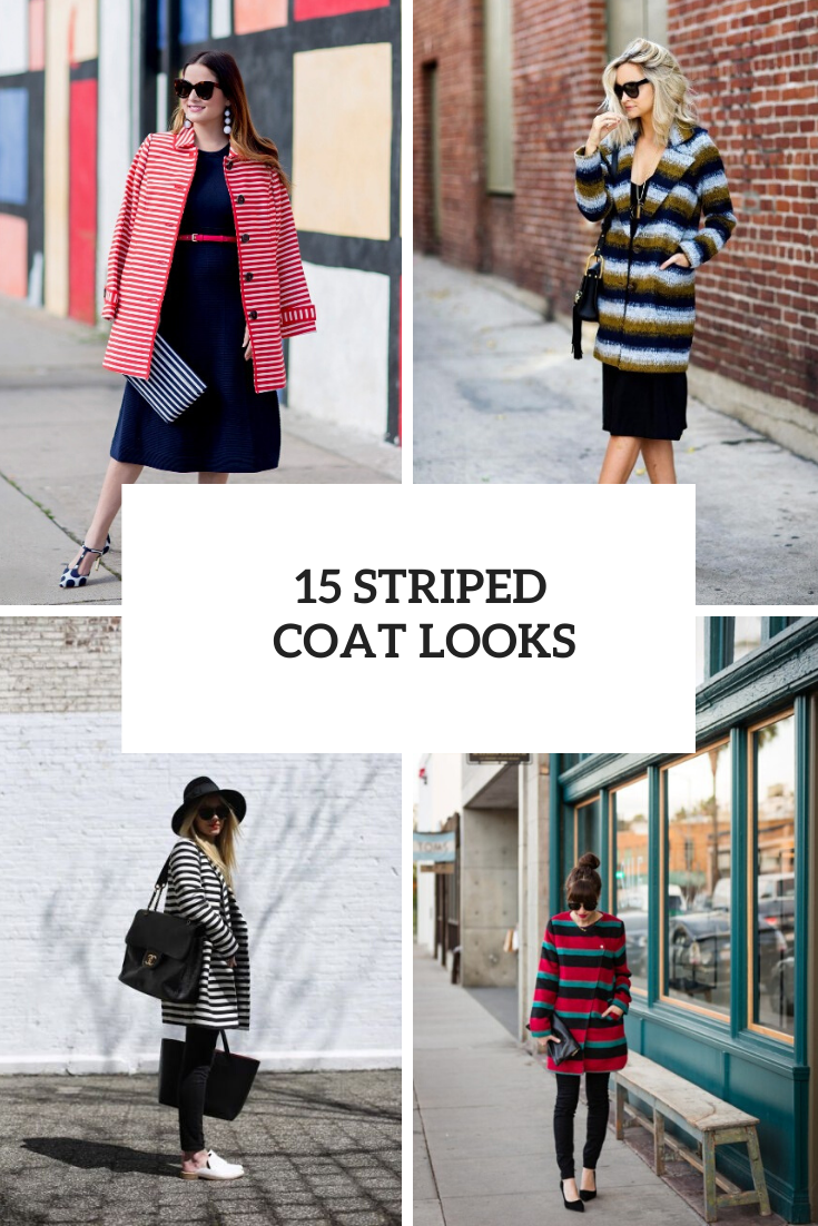 Outfits With Striped Coats For This Season