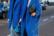 15 oversized midi classic blue faux fur coats will add a trendy touch to your look