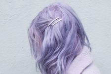 24 messy and wavy lilac medium length hair is a hot trend this year, feel free to rock it
