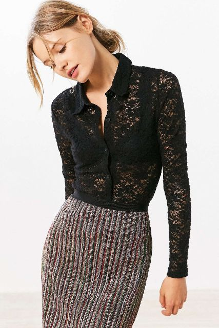 With pencil knee length skirt