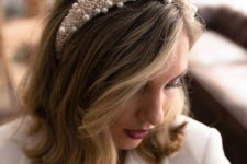 if you are  a bride, you can wear a padded and heavily embellished or pearled headband for a fashion statement