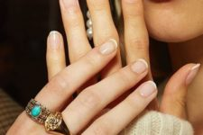 13 a micro French manicure is a stylish and subtle idea to wear this classic idea any time