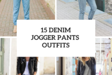 15 Outfits With Denim Jogger Pants For Ladies