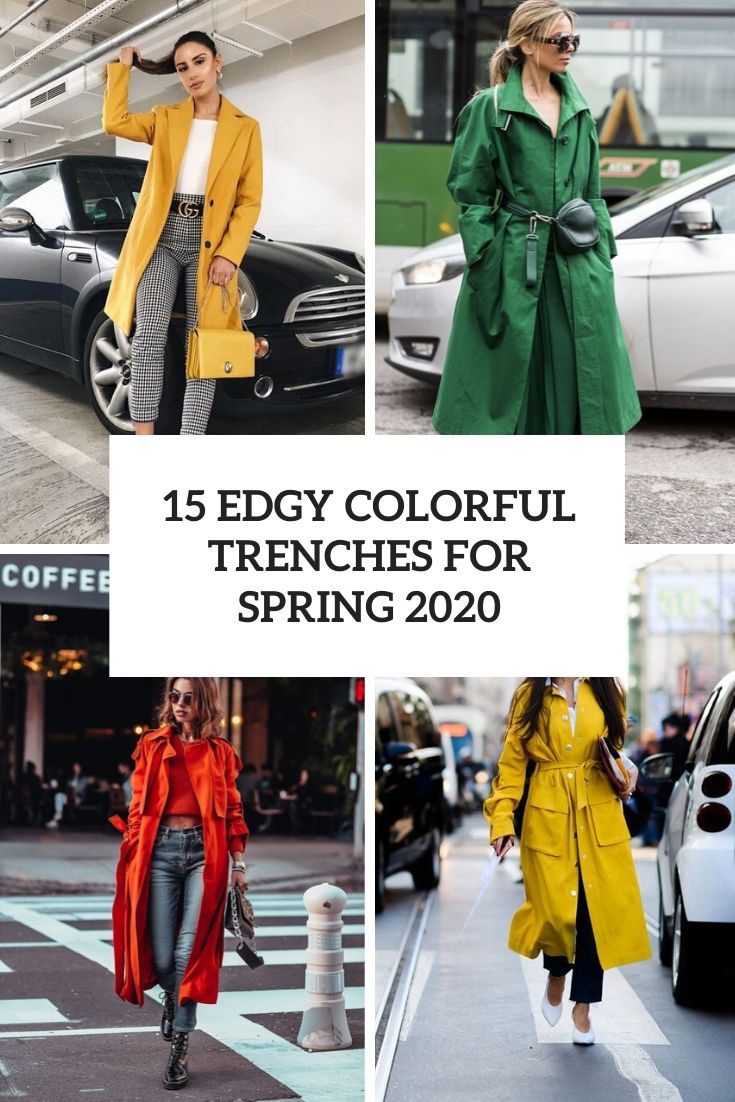 15 Edgy Colorful Trenches For Spring 2020