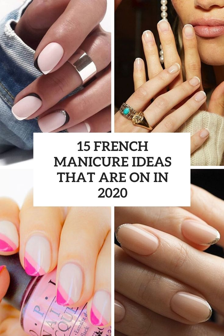 french manicure ideas that are on in 2020 cover
