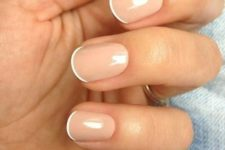 16 micro tip French nails are amazing for wearing this idea in a fresh way, rock your French manicure without looking outdated