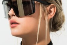 daring D-frame sunglasses in dark shades is a bold and statement idea for every girl this season