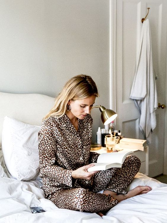 animal print pajamas are ideal for now - animal prints are veyr trendy and everybody's wearing them