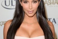 08 long, sleek, glass hair like Kardashian's is what you really need to rock this year