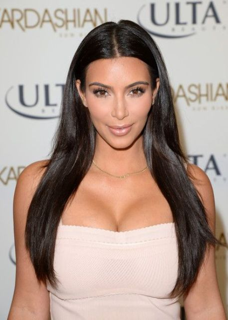 long, sleek, glass hair like Kardashian's is what you really need to rock this year