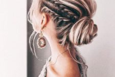 12 try various low buns, braids and other updos with some wavy locks down for a trendy feel