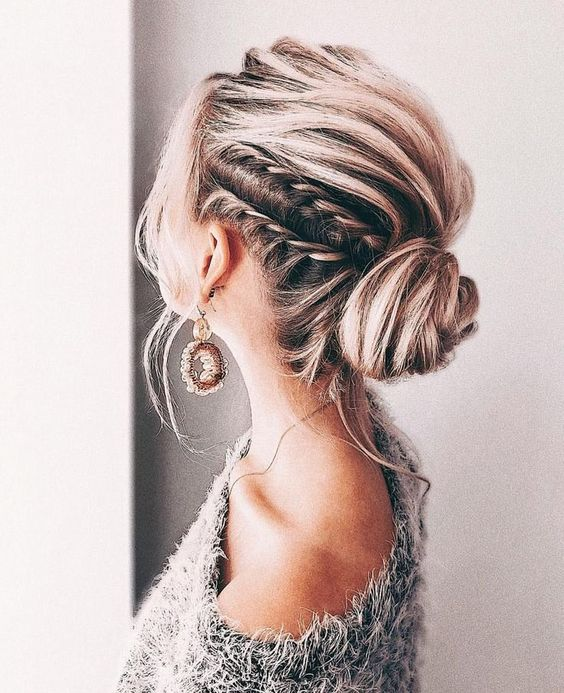 try various low buns, braids and other updos with some wavy locks down for a trendy feel